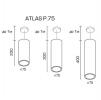 Светодиодный светильник ATLAS P75.230.20