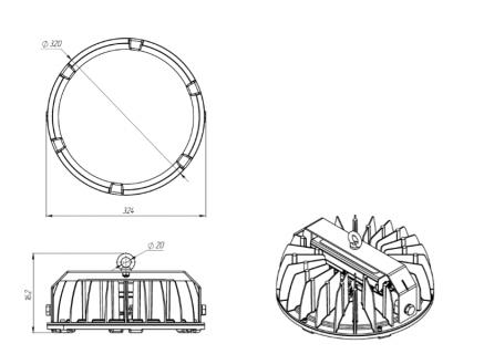 Светодиодный светильник FHB 70-200-850-F15